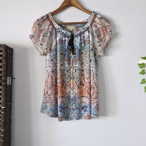 Live and let Live Embroidered Top